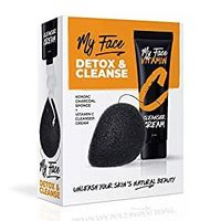My Face Vitamin C Facial Cleanser Cream With Collagen Konjac Sponge