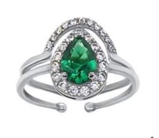 Pour Me A Cocktail - CZ Ring Stack
