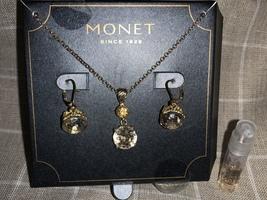 Monet necklace & earrings set