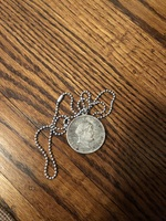 Vintage long coin necklace