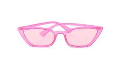 Sharp Cateye- Neon Pink Sunglasses