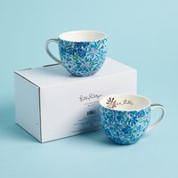 Lilly Pulitzer ceramic mugs set of 2