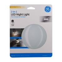 GE 2-in-1 LED Night Light, Battery Operated, Manual On/Off