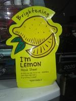 Tony moly brightening I'm lemon sheet mask