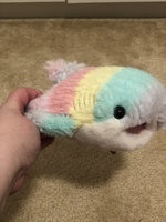 Rainbow shark plush