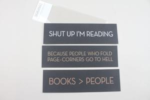 Set of 3, Snarky Bookmarks.
