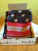 Sacchi American flag scarf