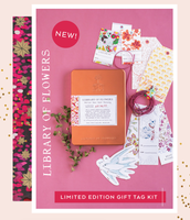 Library of Flowers Gift Tag Kit