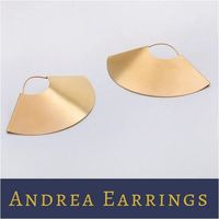 Claudia G Gold Andrea Statement Earrings