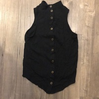 Maeve by Anthropologie Black Button Down Top