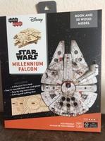 Millennium Falcon 3D Wood Model and Book