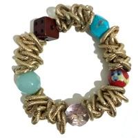 Gold Cluster Chain Bracelet