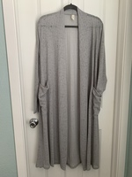 Gray Duster Cardigan by Flamingo