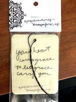 Your heart carries grace mobile fragrance/air freshener