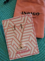 Indigo Authority Coral Pink Necklace & Earrings Set