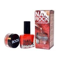 Nail Rock Nail Glitter - Red