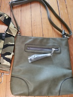 Green marion/ crossbody bag with additional strap