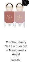 Mishco Beauty nail lacquer set in manicure and Angel