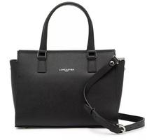 Lancaster Paris Adele Leather Satchel Black RV $395