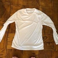 Naviskin White Long Sleeve Running Top