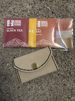 Leather Pouch and Tea Sampler