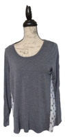 Pixley Long Sleeve T with Polka Dot Inset