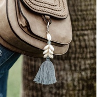 Moonstone Cowry Shell Keychain by Lotus and Luna
