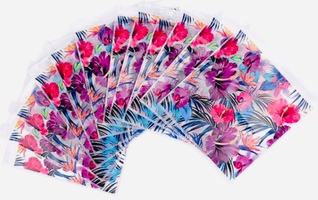 Hibiscus Reusable & Resealable Plastic Bags - Set of 12