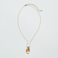 Two-tone pedal necklace