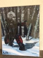 Destro G.I. Joe Art Print signed by artist Mark Melton
