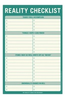 Knock Knock Reality Checklist Notepad