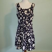 Market & Spruce Navy Leopard Dress, XL