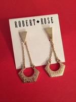 Robert Rose gold geometric earrings