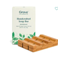 Bamboo Soap Saver & Soap Set In Peppermint