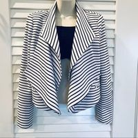 Ark & Co Pira Draped Striped Blazer