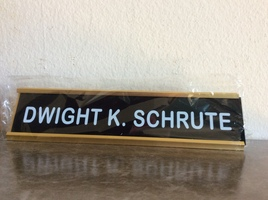 Dwight Schrute Nameplate (The Office) BAM! Prop