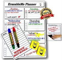 ItemMax Magnetic Full Dry Erase Calendar Kit For Refrigerator