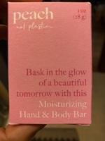 Peach moisturizing hand and body bar