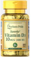 Puritan's Pride Vitamin D3 10 mcg (400 IU)