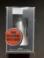 Mini megaphone with siren