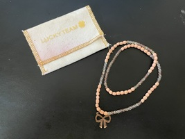 Lucky Team Necklace / Bracelet with Bow Pendant