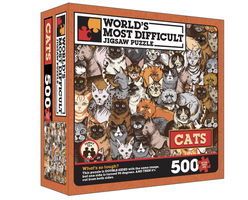 """World's Most Difficult Jigsaw Puzzle """" Cats Edition """" Double Sided"""