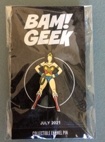 Classic Wonder Woman Enamel Pin (Double Clasp)