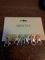 Mocha Zipper Earring Set