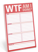WTF Am I Doing? Notepad To-Do List by Knock Knock