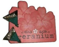 Geranium Earrings Studs Green Triangles/Pyramids