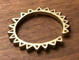 CHIBI JEWELS New York NYC Ring BRASS Triangle
