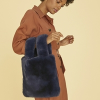 Unhide Lil Fluffy Tote Bag in Navy