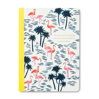 """""""SHE SAYS YES TO EVERYTHING THAT LOOKS LIKE SERENDIPITY AND SATURDAYS."""" Compediuim Flamingo Notebook"""