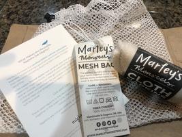 Marley's Monsters napkins and mesh bag